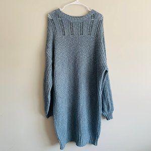 AEO | Blue Chunky Knit Sweater Dress - XXL